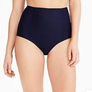 J. Crew High Waisted Navy Swimsuit Bottoms